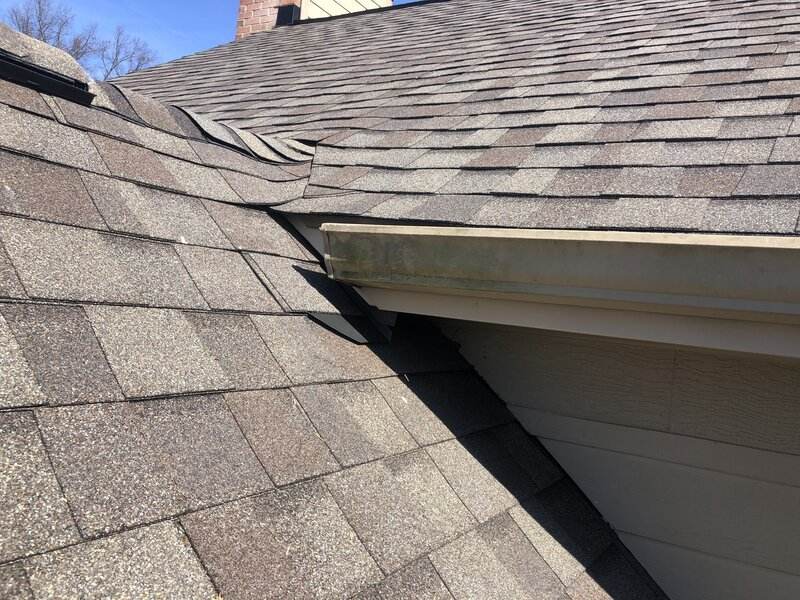 after new roof and flashings are installed